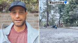 Sebastián Rulli compartió imágenes de su hijo Santiago montando un caballo