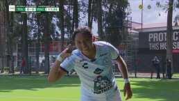 ¡Cabezazo letal! Viridiana Salazar anota el 0-1 de Pachuca Femenil