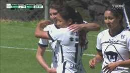 ¡Golazo! Edna Santamaria marca el gol para Pumas de tres dedos