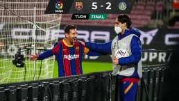 ¡La locura! Messi anota doblete en goleada ante Getafe