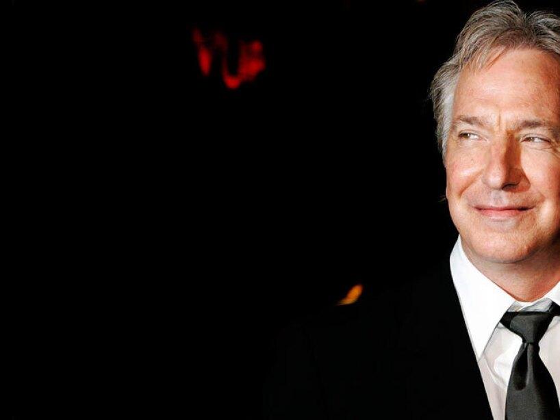 El actor y director Alan Rickman.