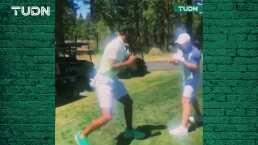 Stephen Curry 'recibe' clases de boxeo del 'Canelo' Álvarez