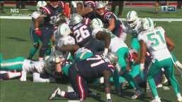 ¡No todo es Cam! Sony Michel logra un touchdown más para Patriots