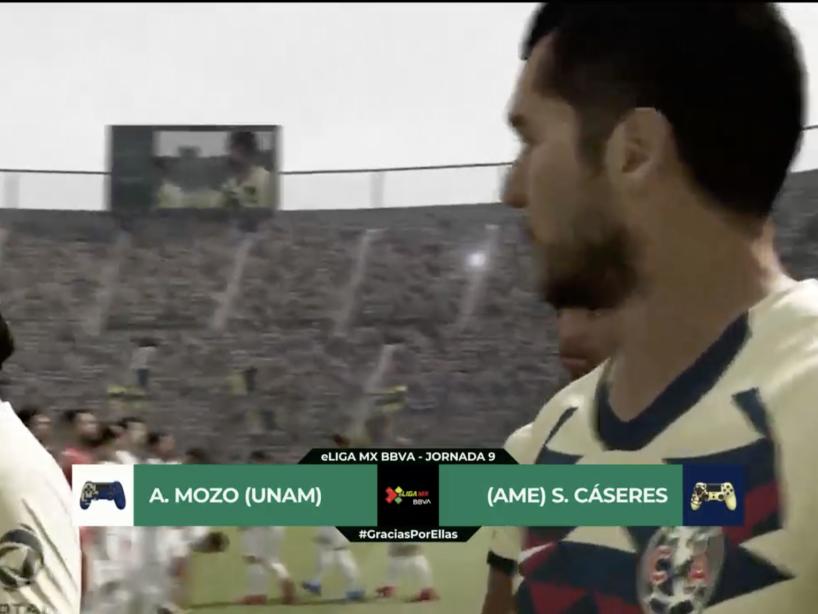 Pumas vs América, eLiga MX, 2.png