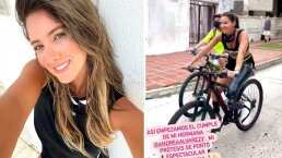 Daniella Álvarez usa su prótesis para andar en bicicleta por primera vez