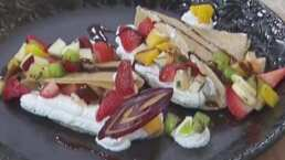RECETA: Crepas de canela con frutas