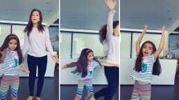 Aitana le da un empujón a su mamá, Alessandra Rosaldo, y 'cobra venganza' por no dejarla cantar
