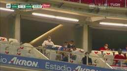 Benjamín Galindo presente en el estadio para el Clásico