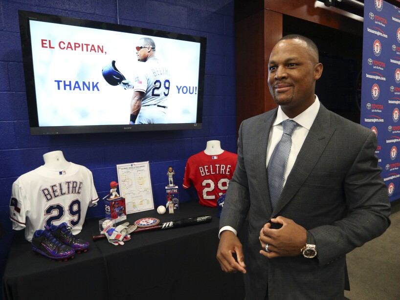 Rangers Beltre Retirement Baseball