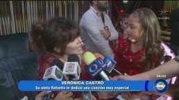 Verónica Castro sorprendida por su nieta Rafaela en 'Pequeños Gigantes'