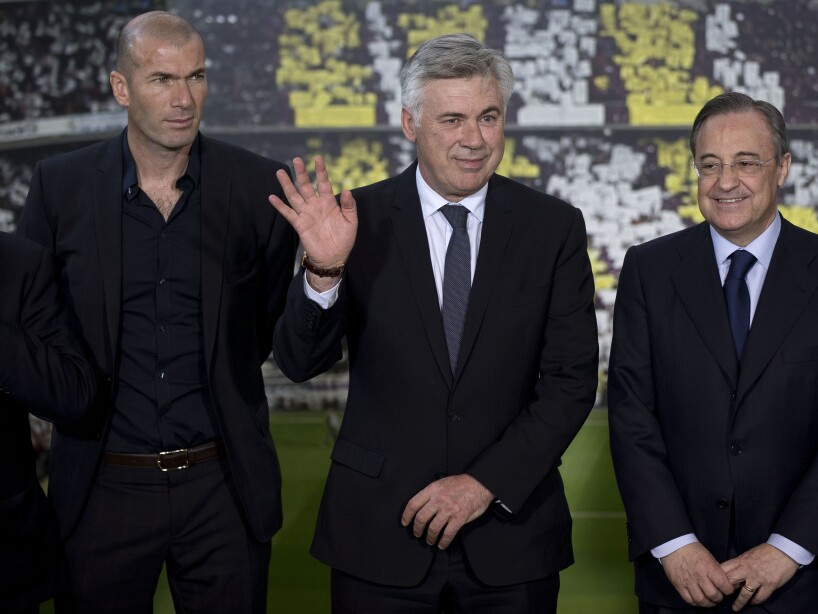 Carlo Ancelotti, Zinedine Zidane, Florentino Perez