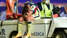 Benedetti se lesiona la rodilla nuevamente y sale entre lágrimas