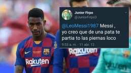 Siempre hay un tuit: Firpo odiaba a Messi y ahora es su compañero