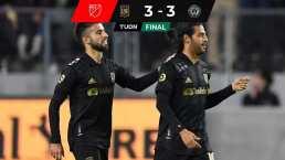 Cardiaco empate entre LAFC y Philadelphia con golazo de Vela