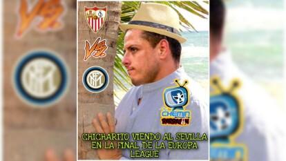 Sin deberla ni temerla, 'Chicharito' fue protagonista de los memes de la Final de la justa continental.