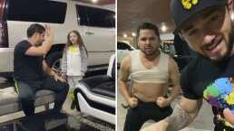 Larry Hernández le promete a su hija que tendrá abdomen de lavadero: 'Ya estoy harto de usar faja'