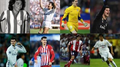 A horas de que comience el Derbi Madrileño, recordamos algunos de los jugadores emblemáticos que han vestido ambas camistas.