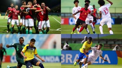 El resumen de los primero cuatro partidos de la jornada dos del mundial de Brasil sub-17.