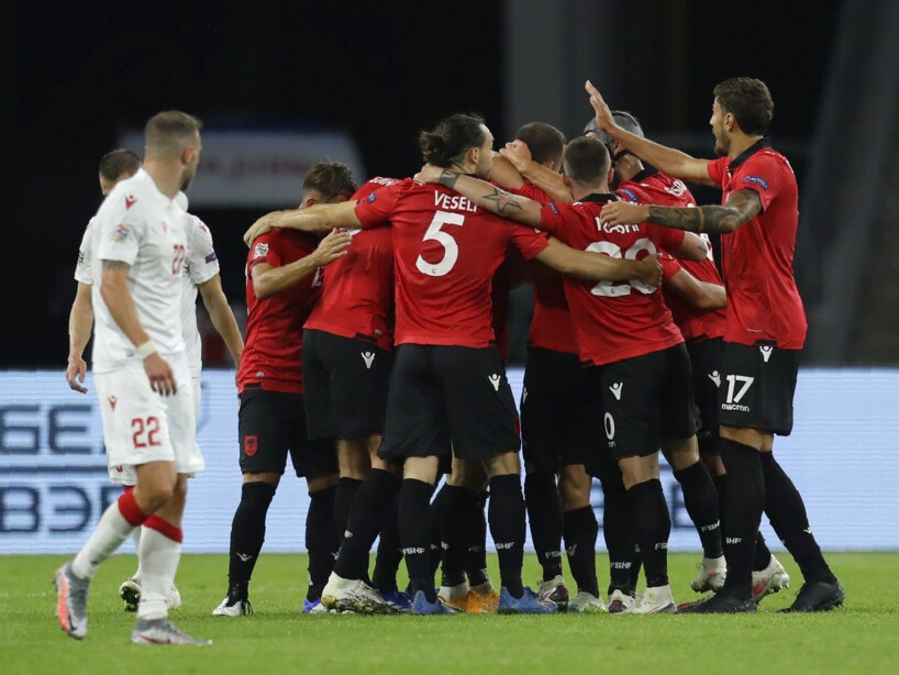 Belarus Albania Nations League Soccer