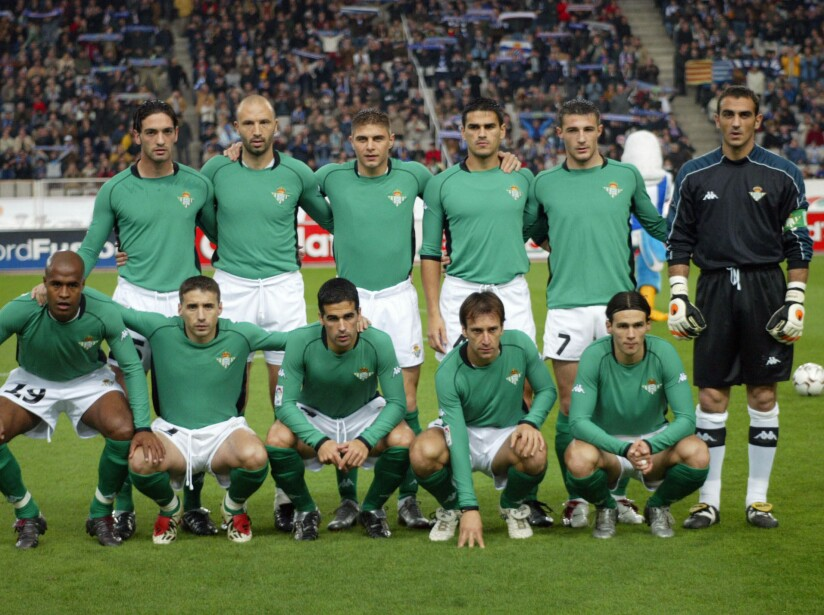 The Real Betis team group line up