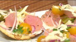 Cocina chef Gibaja Tostadas de pata de res