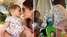 Blu, la hija de Sharon Fonseca, dio sus primeros pasitos y ahí estuvo la modelo para aplaudirle