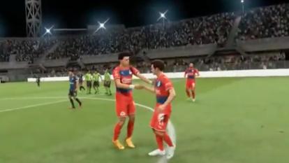 Chivas vence al Querétaro 0-2 con Beltrán en los controles del FIFA 20, sobre Marcel Ruiz.