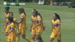 ¡Ya es goleada! Stephany Mayor con un gran remate logra el 0-3 de Tigres