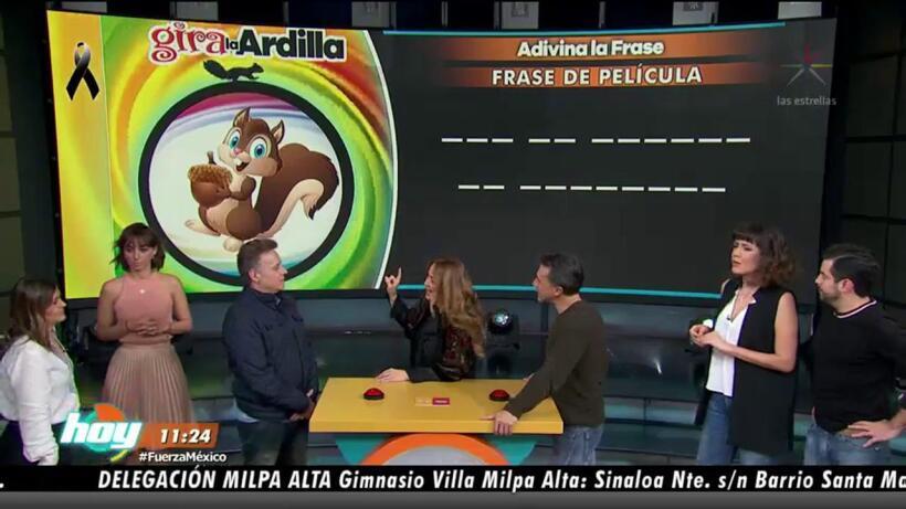 ¡Una ardilla deja en suspenso a Sergio Mayer y Alexis Ayala!