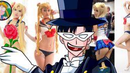 Tuxedo Mask le dice piropo guarro a Sailor Moon