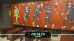 Espectáculo en el vestuario del Barcelona previo a El Clásico