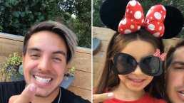 Aitana Derbez le roba cámara a su hermano Vadhir y lo hizo con un tierno disfraz de 'Minnie Mouse'