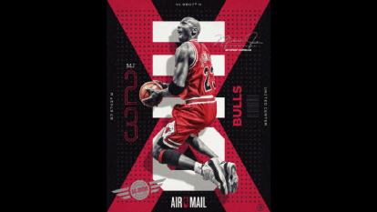 Postales de correo aéreo de la NBA