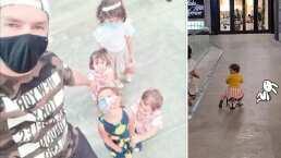Paula, hija de Jacky Bracamontes, se sube por primera vez a un patín y demuestra lo aventada que es