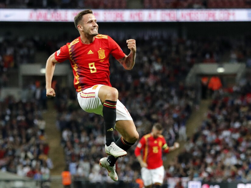 APTOPIX England Spain Nations League Soccer