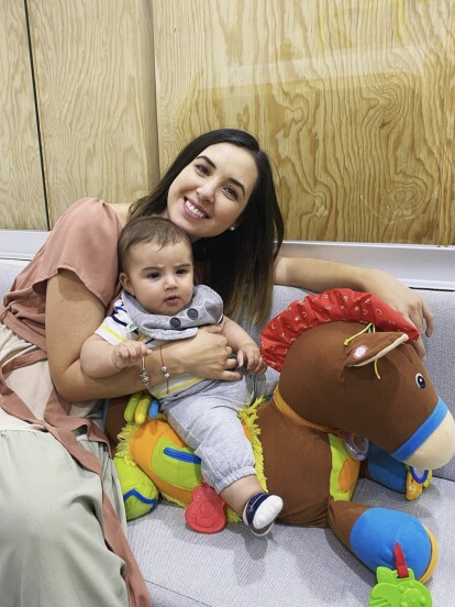 """Con motivo del sexto """"mesesario"""" de su hijo Diego, Fátima Torre, actriz de 'Soy tu Dueña', organizó, el pasado miércoles 30 de septiembre, una reunión familiar para celebrar al pequeño, quien nació el 31 de marzo."""