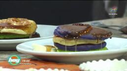 Cocina Hot cake casero de amaranto con frutos y yogurt de fresa sin lácteos