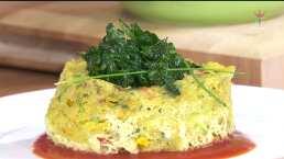 RECETA: Pastel de verduras en microondas