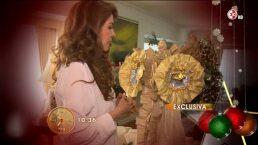 Guadalupe Pineda coloca su árbol de navidad