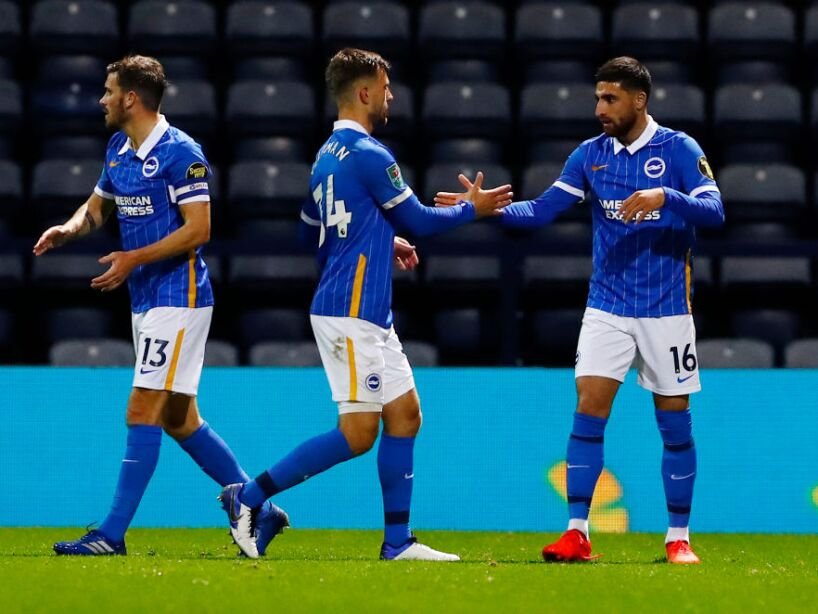 Preston North End v Brighton And Hove Albion - Carabao Cup Third Round