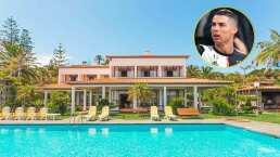 La increíble mansión en la que Cristiano Ronaldo pasa la cuarentena