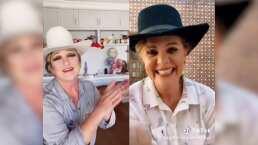 Al puro estilo vaquero, Erika Buenfil y Angélica María protagonizan divertido dueto en TikTok