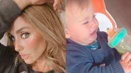 Así reaccionó el bebé de Anahí al probar por primera vez el jugo verde