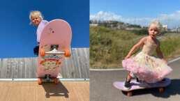 Con tan solo 3 años, esta niña patina mucho mejor que un profesional