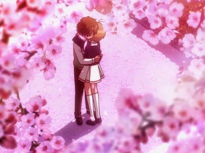 shaoran abraza a sakura