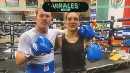 Oscar Valdez y Canelo se enfrentan, pero sólo en sparring