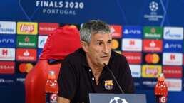 """Para Setién, Lewandowski """"no está a la altura de Messi"""""""