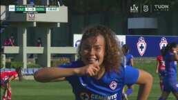¡Cabezazo letal! Alejandra Curiel anota el 1-0 de Cruz Azul