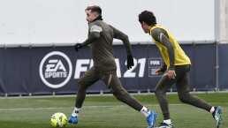 Héctor Herrera no entrena previo al duelo ante el Real Madrid