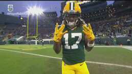 ¡Davante Adams aparece! Consigue un touchdown de una yarda